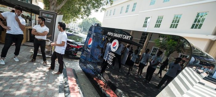 Futuristic Pepsi Smart Cart in Dubai