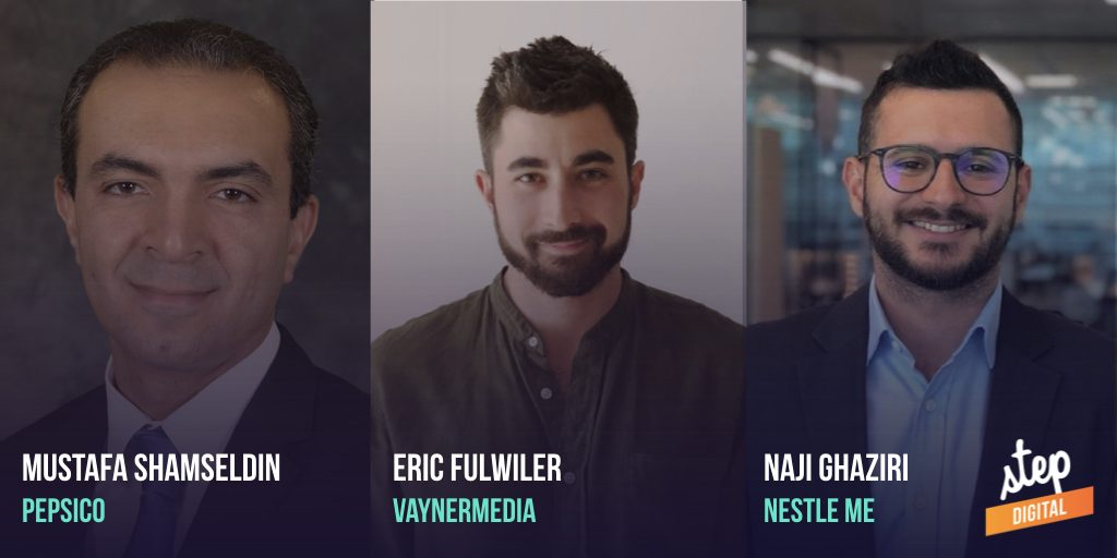 Mustafa Shamseldin from Pepsico, Eric Fulwiler from VaynerMedia, Naji Ghaziri from Nestle